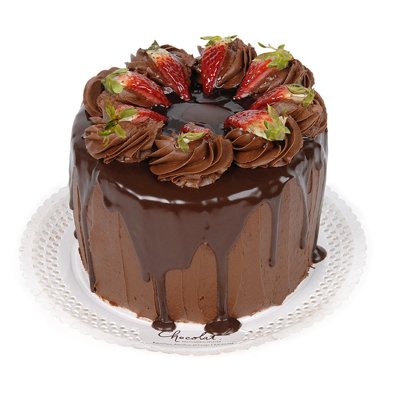 Tarta San Valentín de Chocolate y Fresas