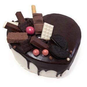 San Valentín Corazón Chocolate y Nata