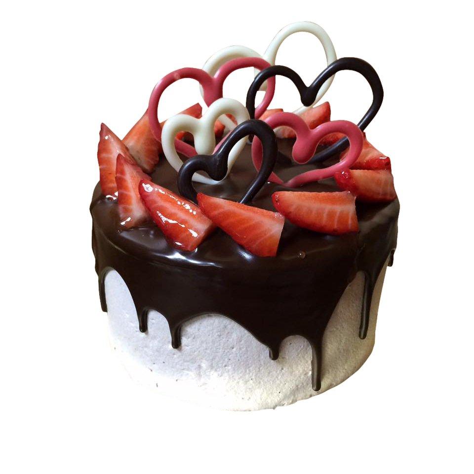 Tarta San Valentín Corazones y Fresas